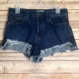 Free People High Waist Button Fly Jeans Shorts